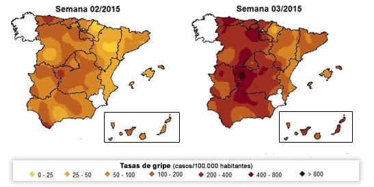 mapa evolución gripe