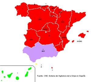 Mapa gripe 0117